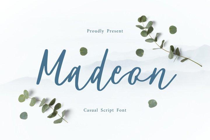 Madeon Script Font