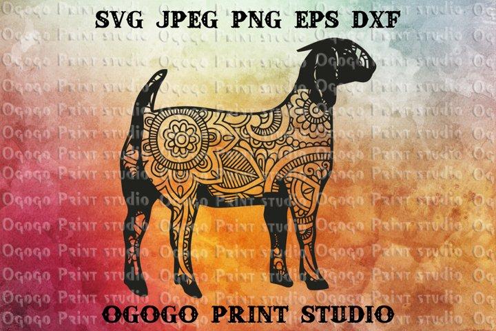 Download Boer Goat Svg Zentangle Svg Animal Svg Mandala Svg 230687 Cut Files Design Bundles