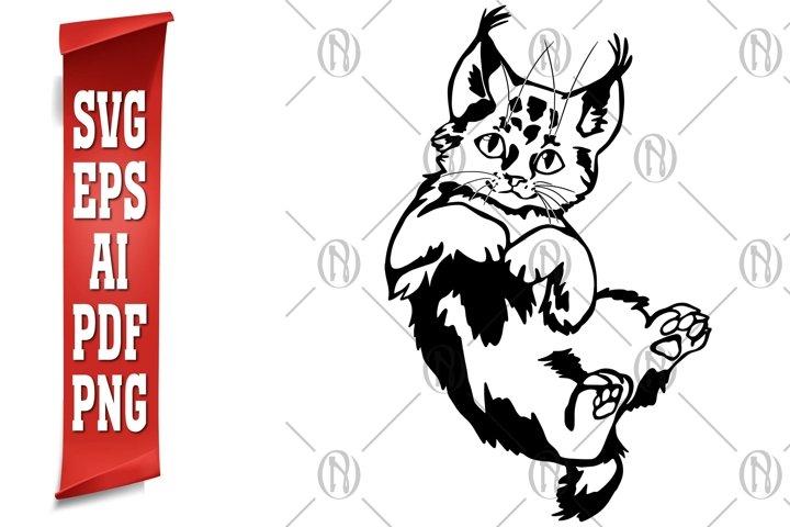 Cat Portrait SVG, AI, Eps, PDF & Png Cutting Files