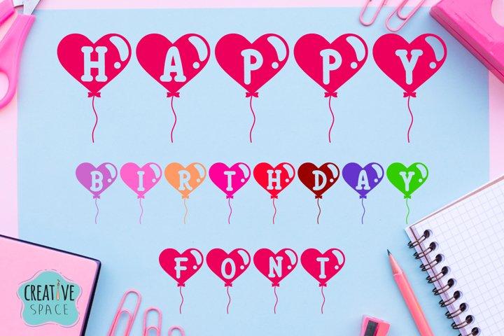Happy Birthday Font example