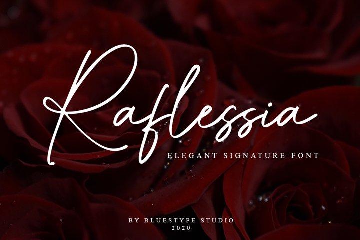 Raflessia - Elegant Signature Font