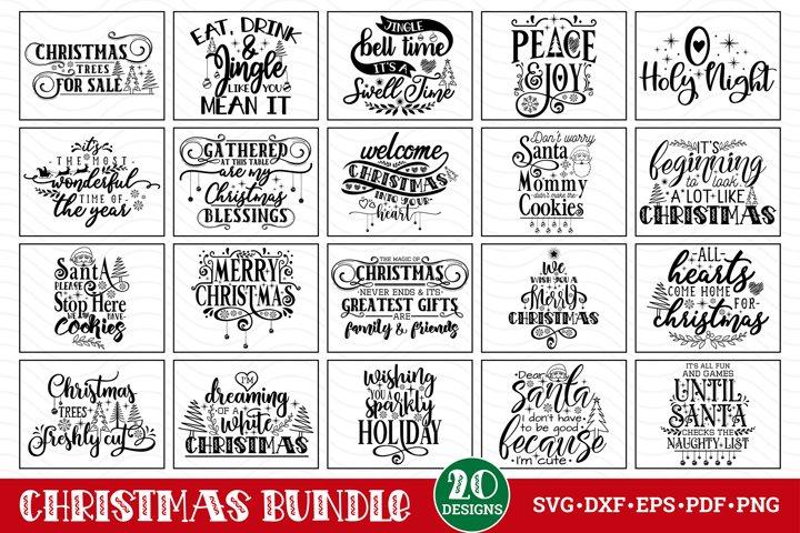 Christmas SVG Bundle, Christmas Quotes Bundle