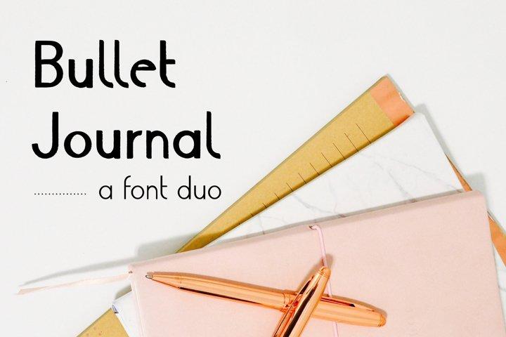 Script Font Duo Bullet Journal Font | Modern Scrapbooking