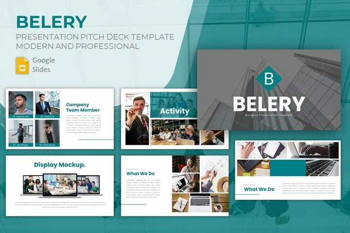 Pitch Deck Google Slides Template - Belery