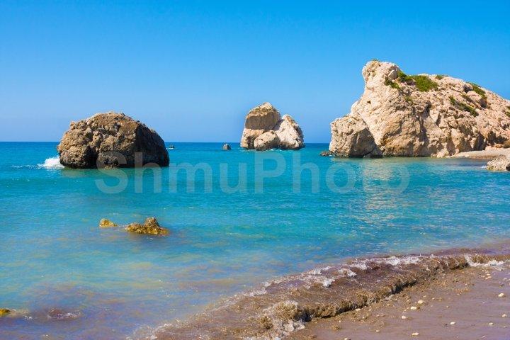 Love beach. Aphrodites birthplace near Paphos
