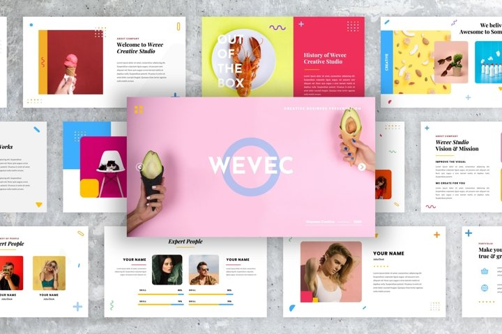 Wevec - Creative Business PowerPoint Presentation