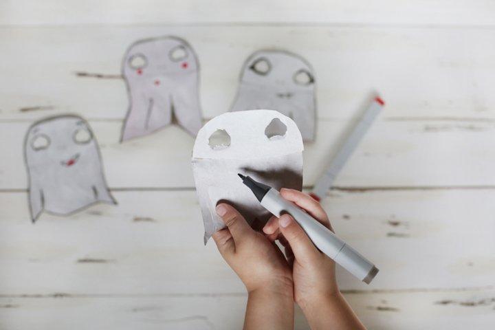 DIY Halloween Cute Ghost Garland
