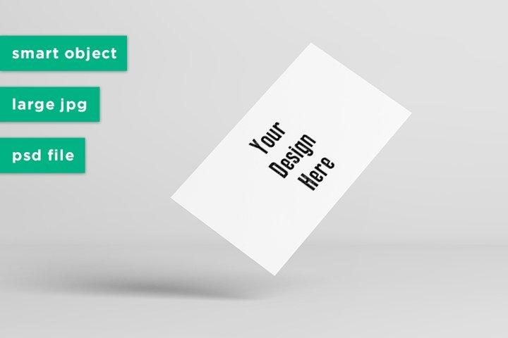 Floating Business Card Mock-Up Mockup PSD