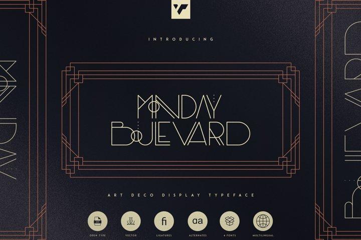 Monday Boulevard - Art Deco Typeface