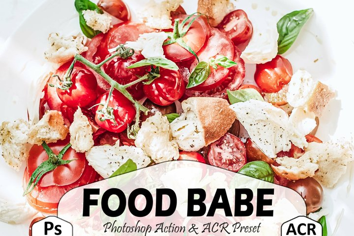 18 Food Babe Photoshop Actions And ACR Presets, Clean Ps