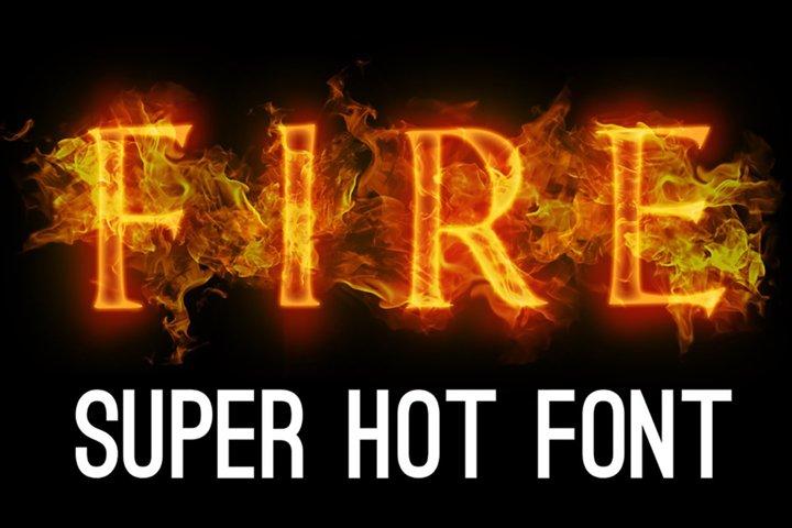 Fire font. Burning letters alphabet