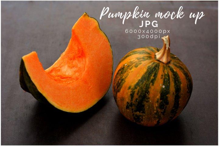pumpkin Thanksgiving Mockup. Fall pumpkin mockup