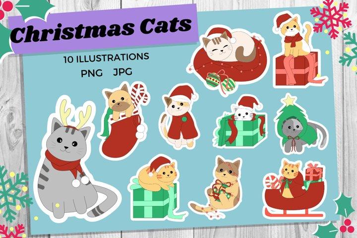 Christmas Cats   Cat Sticker Bundle