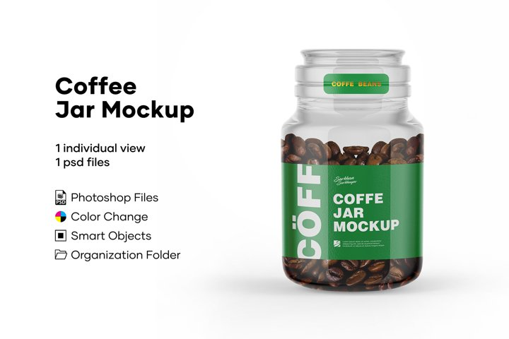 Coffee Jar Mockup