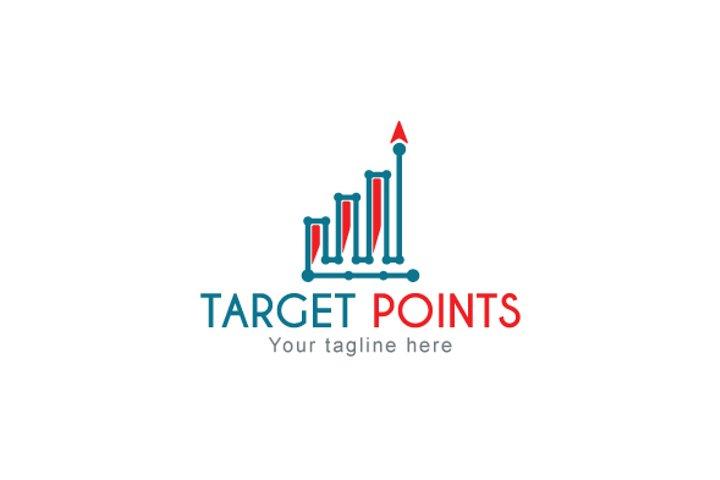Target Points - Statistics Analysis Stock Logo Template