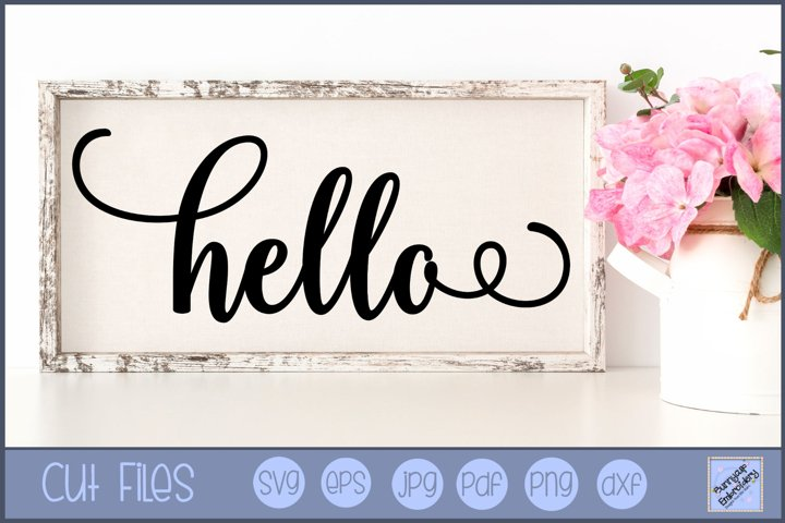 Hello SVG | Farmhouse SVG | Farmhouse Saying