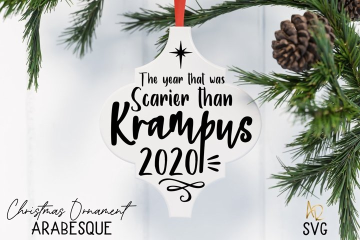 Arabesque Tile Ornament Krampus Pandemic 2020 Covid