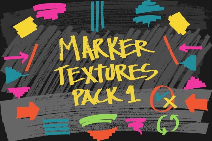 Vector marker texture Pack01