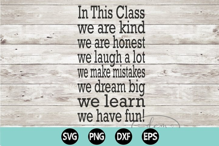 In This Class SVG PNG DXF EPS