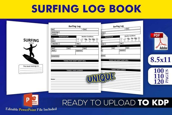 Surfing Log Book - KDP Interior Editable Powerpoint Template