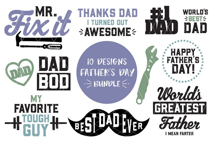 FATHERS DAY Bundle - SVG DXF PNG
