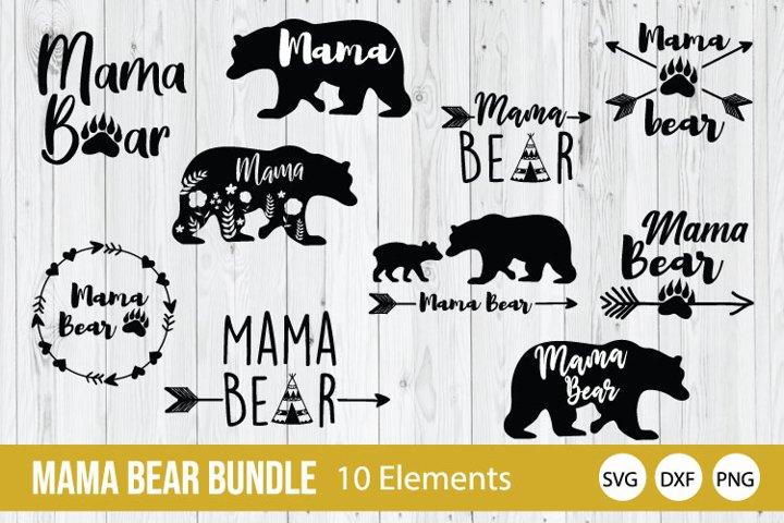 Mama Bear Bundle SVG, Mama Bear SVG