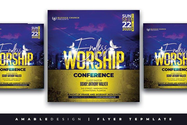 Endless Worship Church Flyer