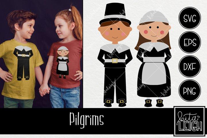 Boy and Girl Pilgrims