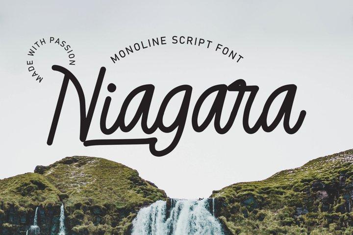 Niagara - Monoline Script Font