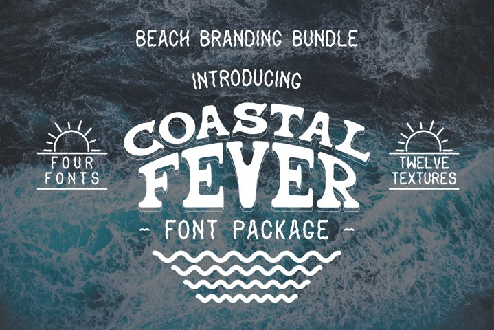 Coastal Fever - Font Package & Beach Textures