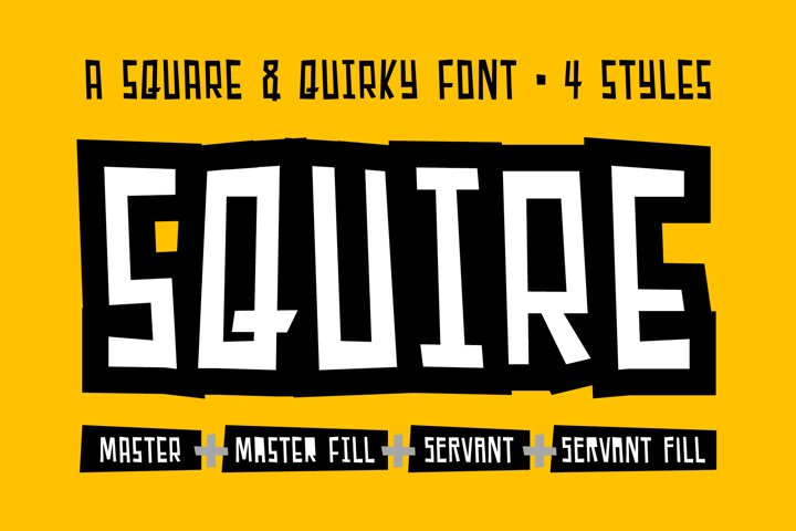 Squire - a square & quirky font