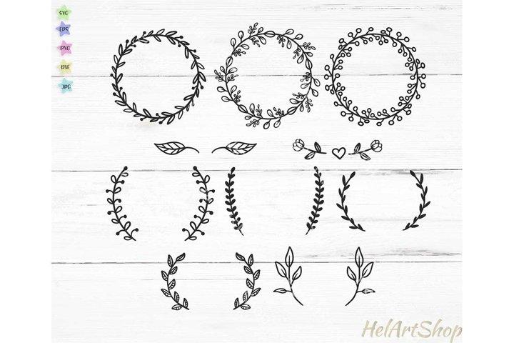 Wreath bundle svg, Border svg, Monogram frame svg