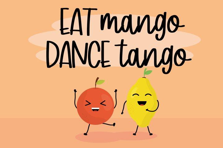 Mango Sticky - Handwritten Font - Free Font of The Week Design0