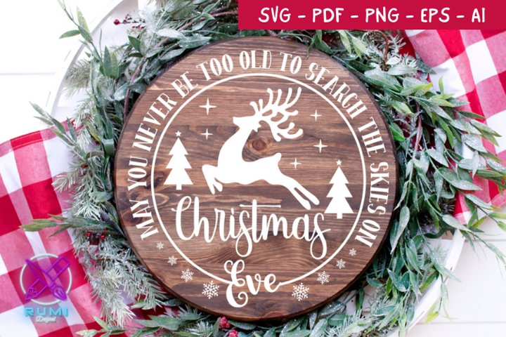 May You Never Christmas Wood Round Sign , Christmas SVG