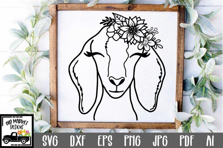 Goat SVG File - Nubian Goat Face SVG Cut File