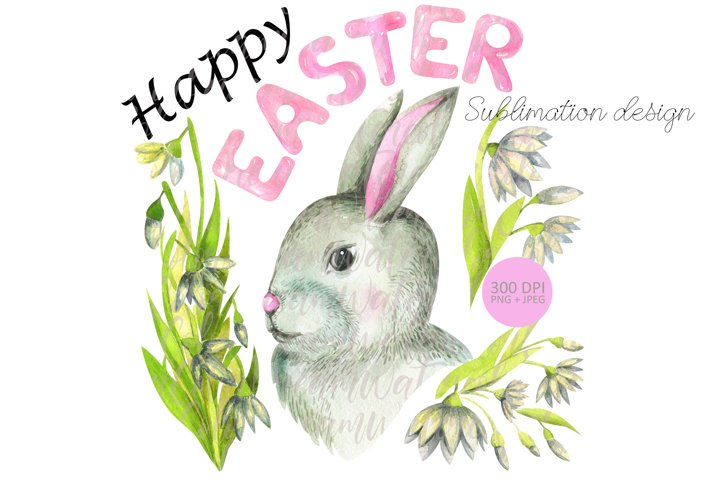 Easter Bunny sublimation PNG