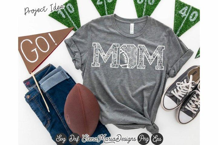 Football Mandala SVG File | Mom Mandala Svg