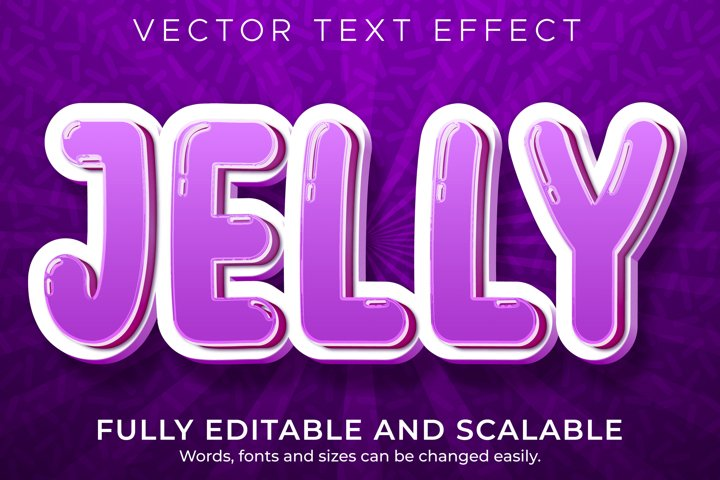 Cartoon jelly text effect, editable comic and fun text style