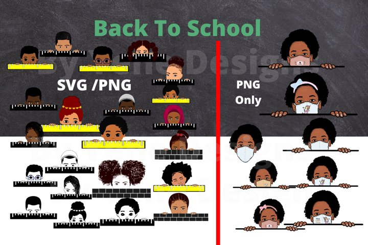 Kids Clip art, Back to school, mask, Afro svg, png