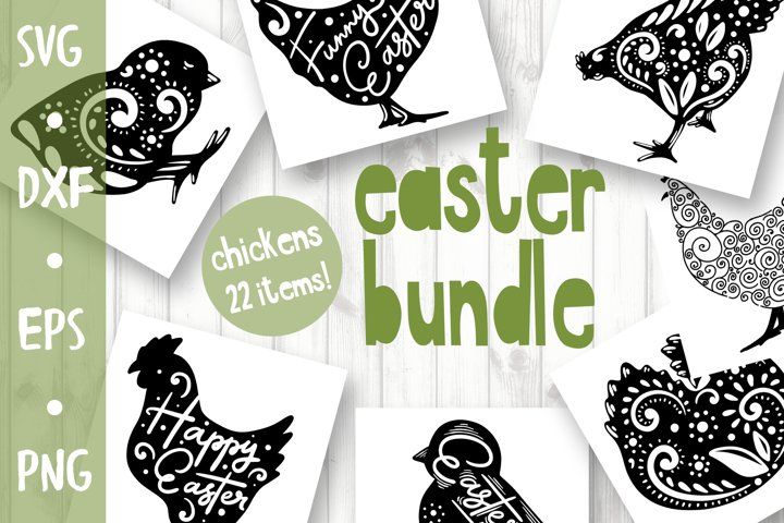 Craft Easter Bundle - chickens collection