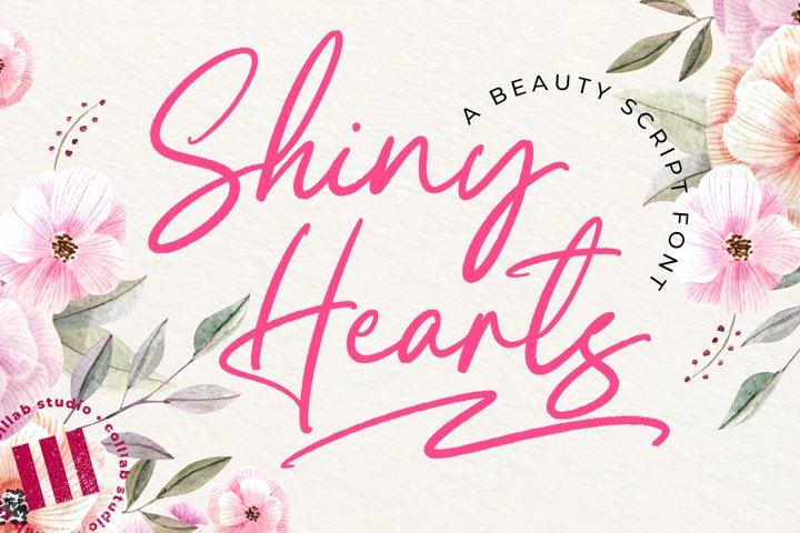 Shiny Hearts - A Beauty Script Font