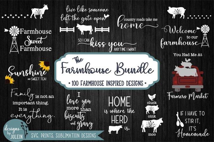 The Farmhouse Bundle SVG, Sublimation, Printables