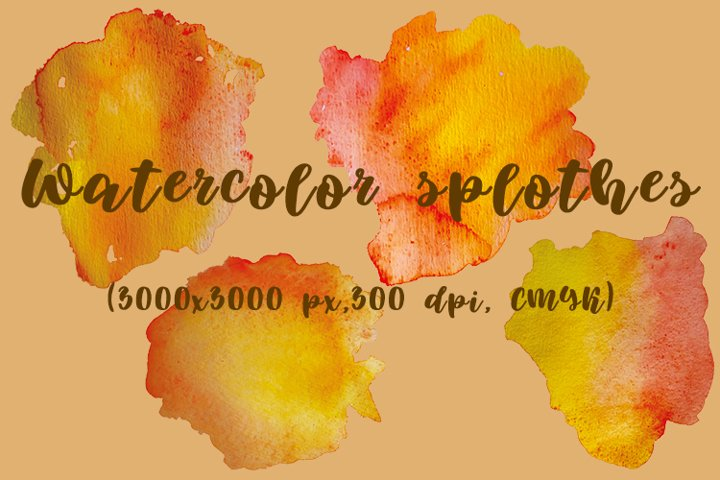 Watercolor backgrounds and splotches