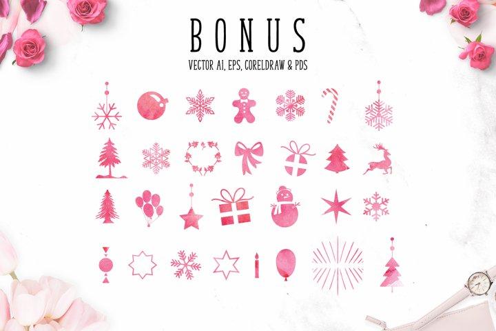 Mistletoe - Font Duo + Bonus - Free Font of The Week Design9