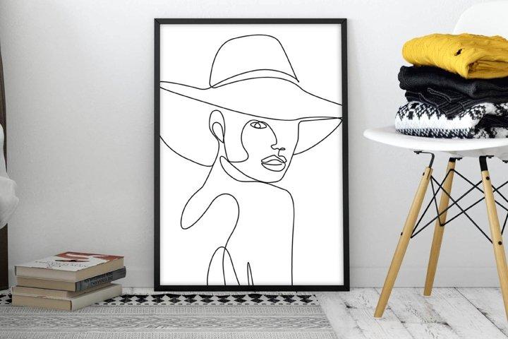 Elegant Woman Wall Art