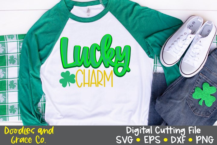 Lucky Charm SVG - St. Patricks Day SVG - EPS - DXF - PNG