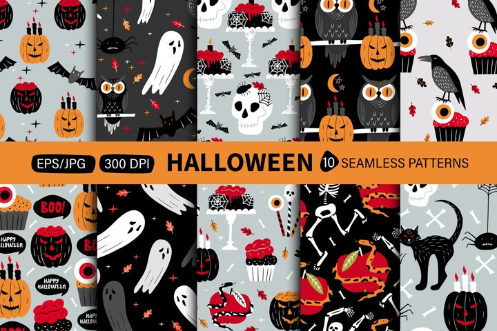 Halloween pattern. Design for Day of the dead or Halloween.