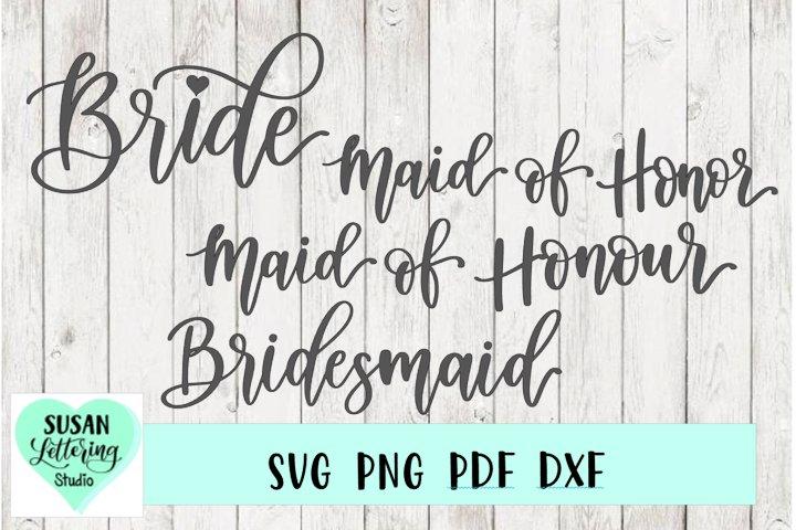 Bridal Party, Bridesmaid, Maid of Honour, Maid of Honor SVG