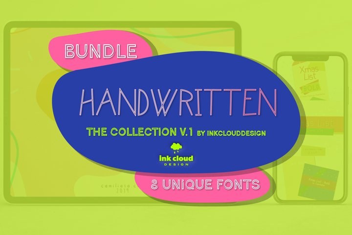 8 Unique Handwritten Fonts - The Big Bundle v.1