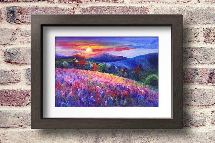 Fantasy Colorful Sunset Landscape - Printable Wall Art